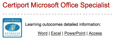 Microsoft Office Specialist certification at CCSF Downtown campus