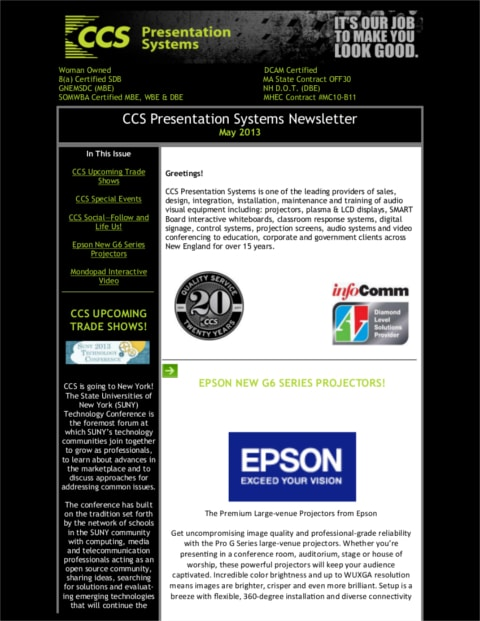May 2013 Newsletter Final