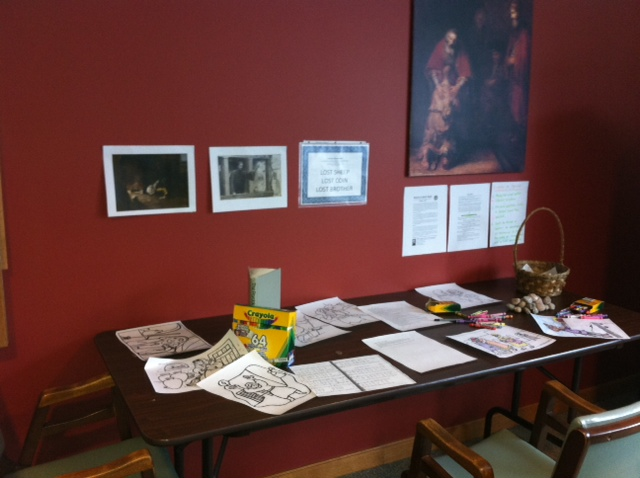 The station for reflecting on the stories of the lost coin, the lost sheep, and the lost brother.
