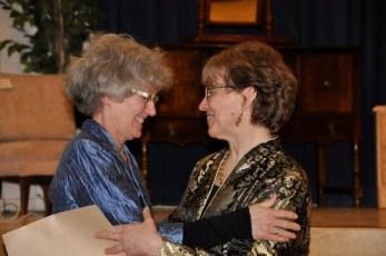 Maylanne congratulates Janet