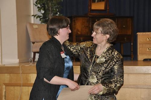 Maylanne congratulates Marcie