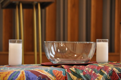 Bowl and candle