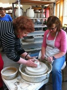 barbara lloyd at sarah's pottery wheel