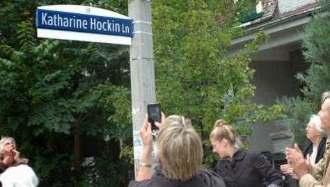 Hockin Lane sign