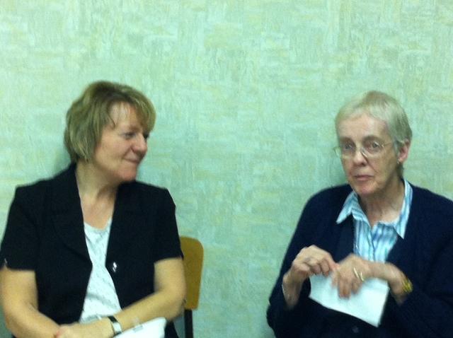 Liz Bachmann with Louise Cornell