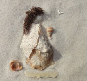 shell art of Phoebe the deacon