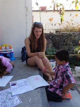 Visiting an orphanage