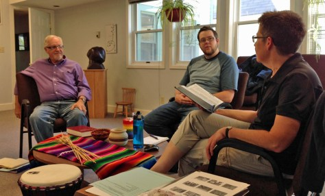 Jim, Mark, and Ann in conversation