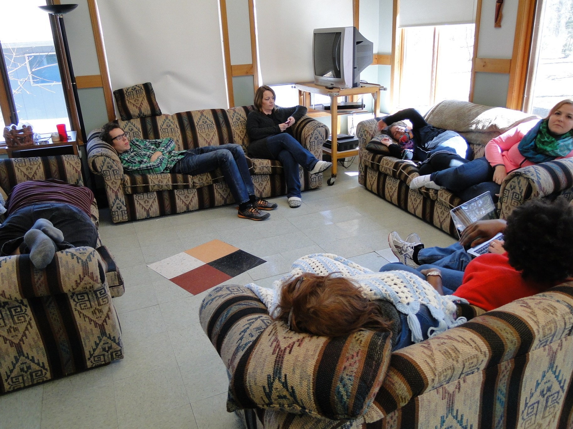 The second-last day of the learning circle, Everyone is exhausted.