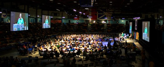 Plenary hall at the UCC General Council.  (photo from http://www.gc42.ca