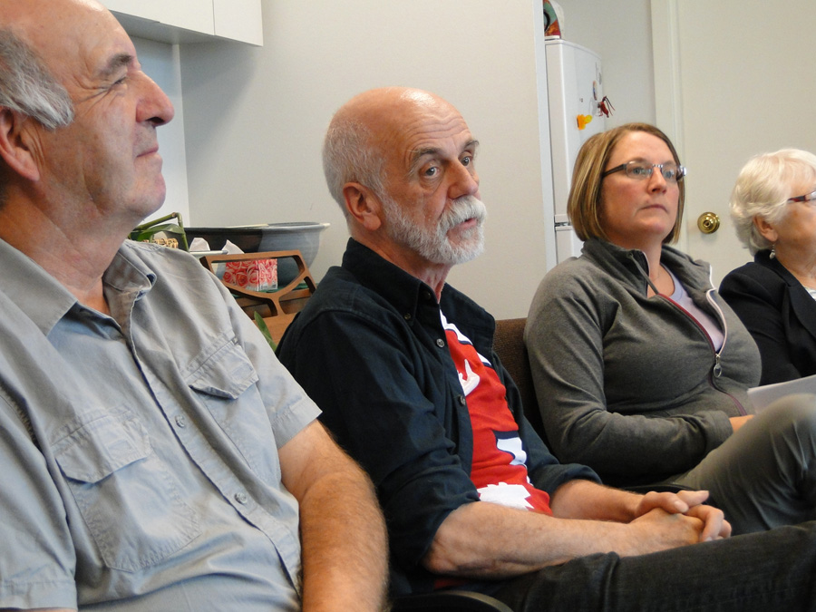 Stan McKay, Bill Millar, and Shelly Manley-Tannis