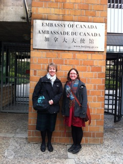 Maylanne and Tif in China