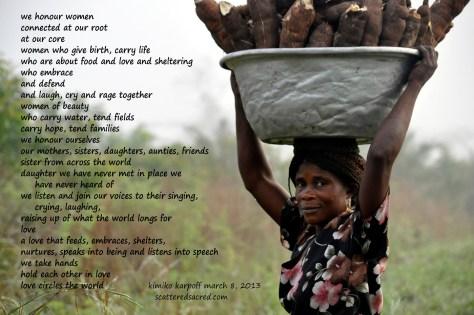 We Honour Women - by Kimiko Karpoff