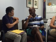 Min-Goo and Hewitt get to know each other at Learning on Purpose