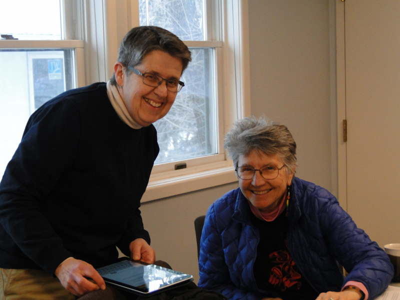 Ann was a welcome observer and theological reflector, and Marylee was an engaging curriculum evaluator and storyteller.