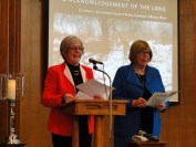 Co-Chairs Kathy Platt and Penny Cummine welcome the community