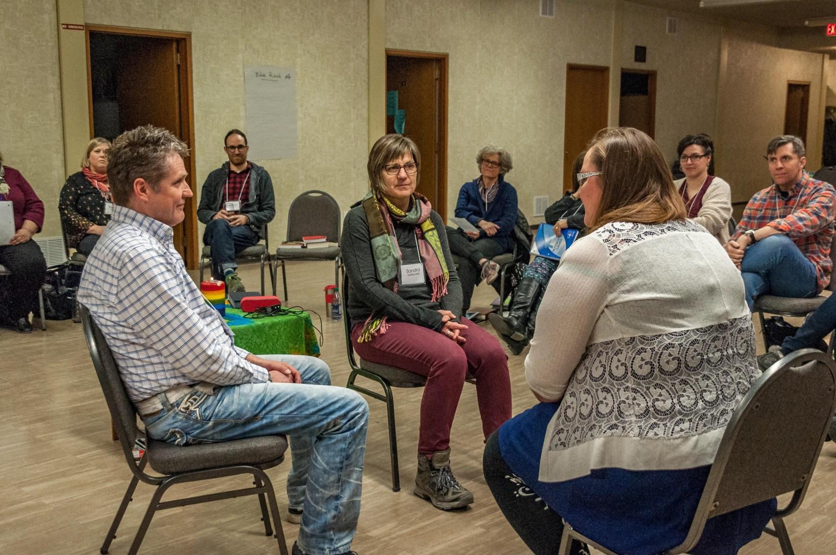 Don, Sandra and Lisa sharing insights.