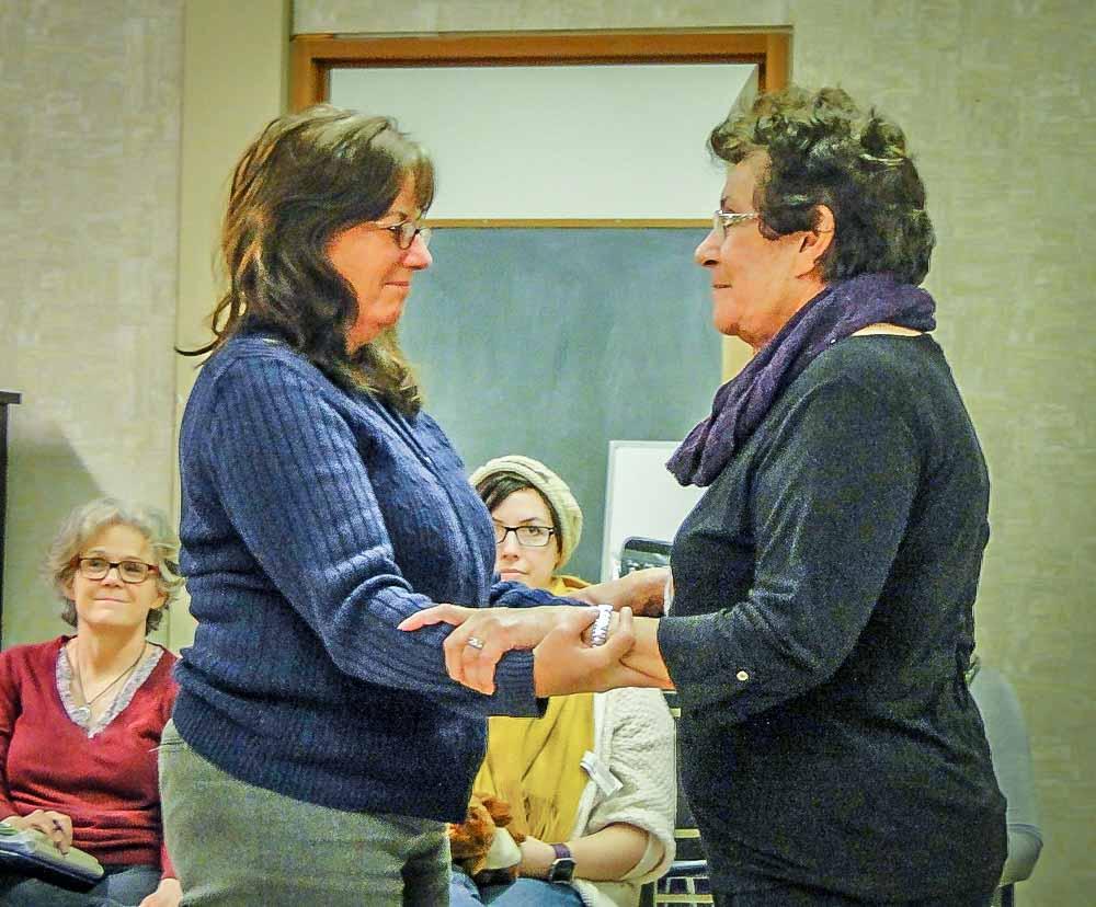 Karen and chaplain Judy Delorme