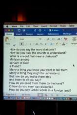 How do you say diakonia? (Tune, how do you solve a problem like Maria.)