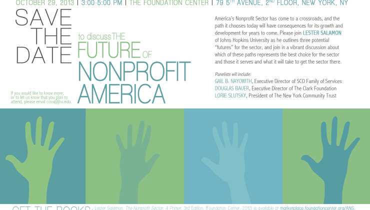 save the date a discussion about the future of nonprofit america in