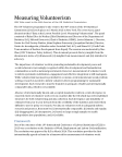 Measuring Volunteerism: UNV Side Event to the 46th Session of the UN Statistical Commission (2015)