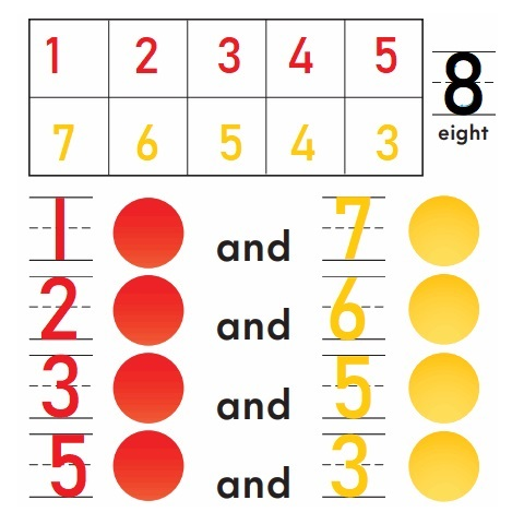 Go-Math-Grade-K-Chapter-3-Answer-Key-Represent-Count-and-Write-Numbers-6-to-9-Model-and-Count-8- Homework-Practice-3.5-Question-1