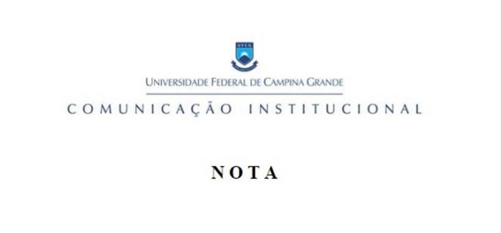 Nota Institucional a servidores e prestadores de serviços da UFCG