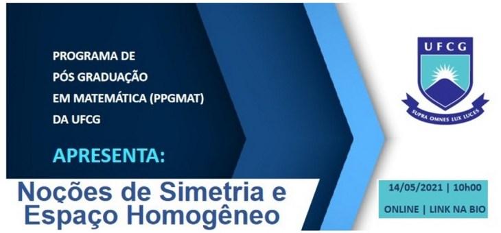 Programa de Pós-Graduação em Matemática realiza palestra on-line na próxima sexta-feira (14)
