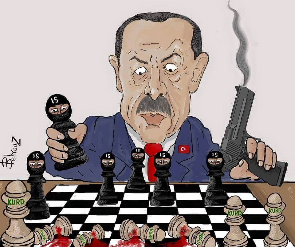 Erdogan-ISIS-Kurds