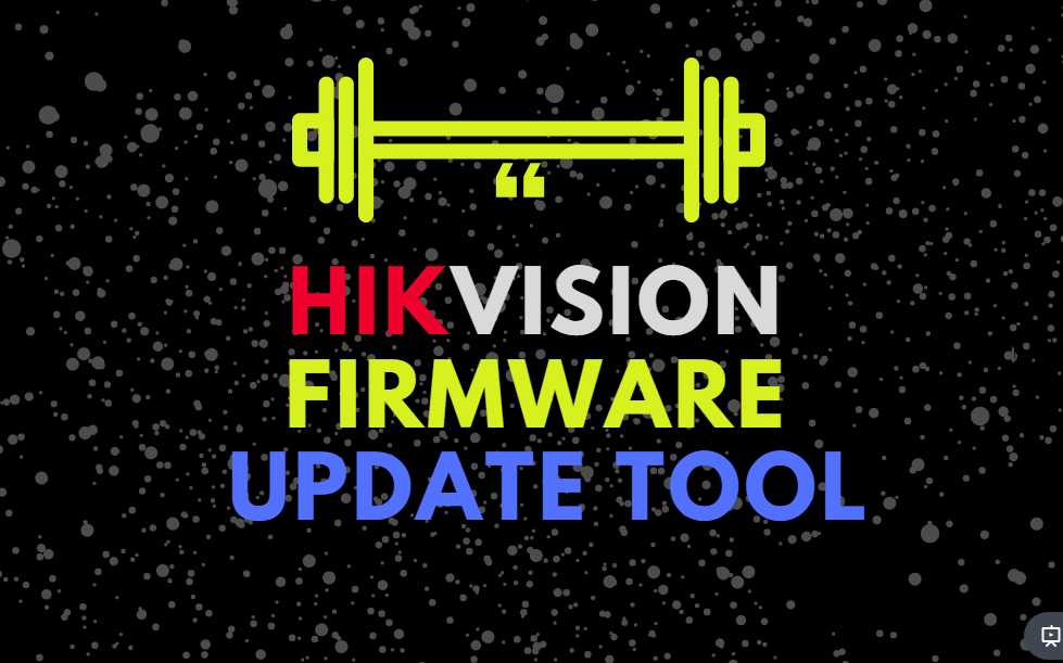 hikvision firmware update tool