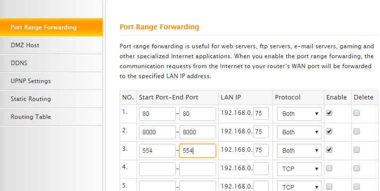 Hikvision Port forwarding