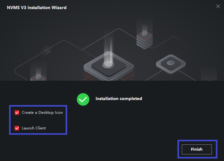 Finish the Installation the software