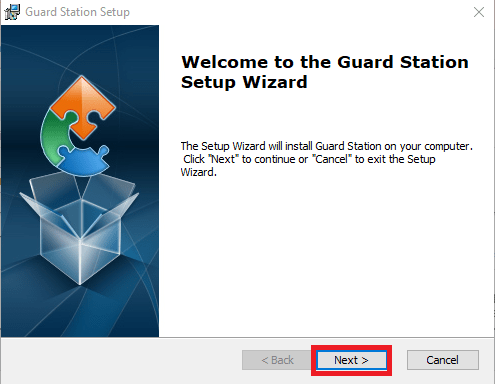 Setup Wizard of Guard Station Software for PC