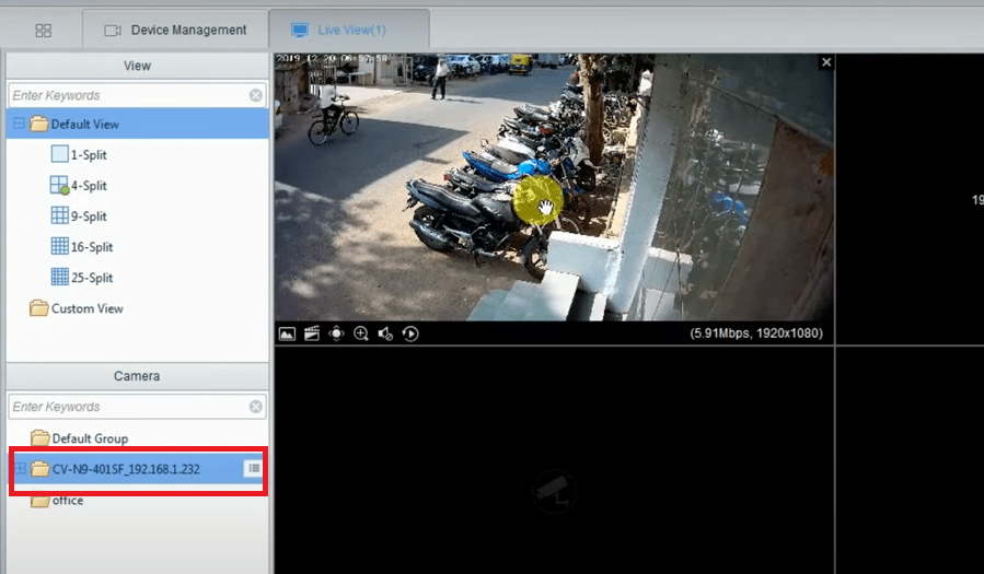 Sample live view of the software for Mac and Windows OS