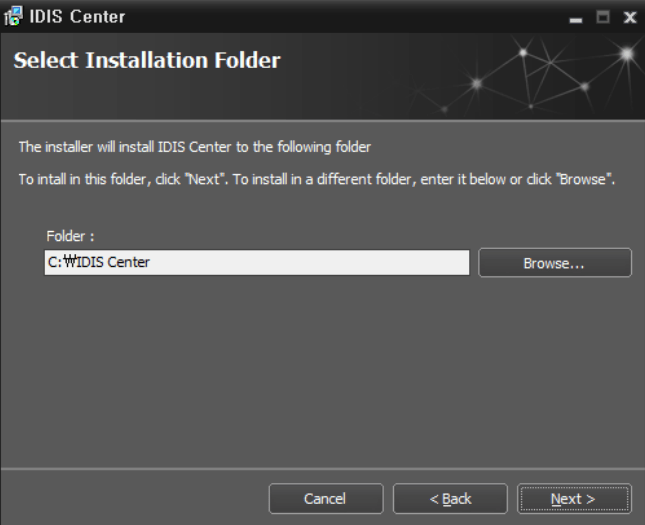 Select the installation path