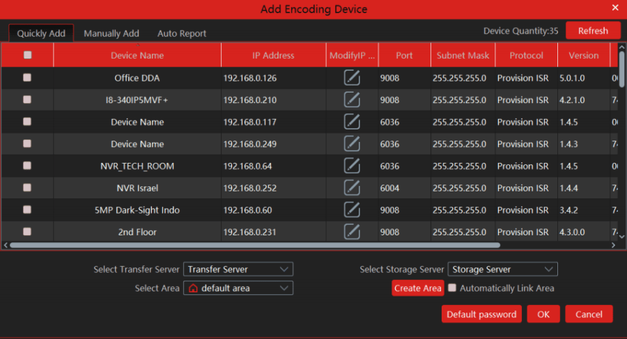 Devices on the local network