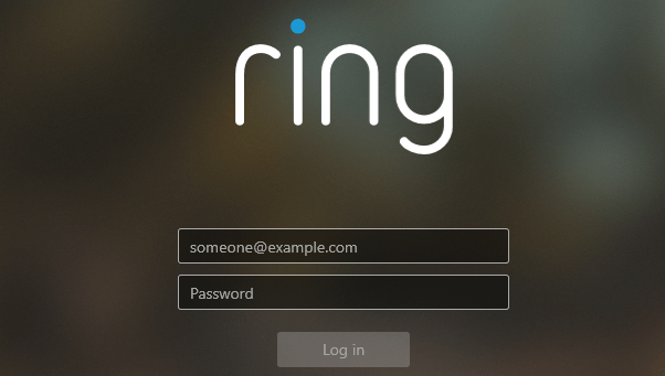 Login on the Ring CMS
