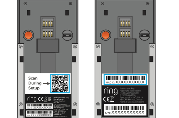 Scan QR code or Mac ID barcode