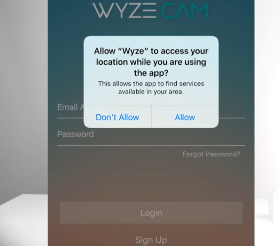 Allow access to location