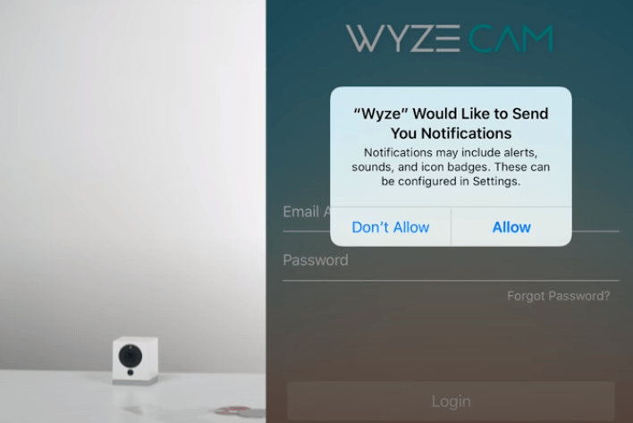 Allow the app's notifications