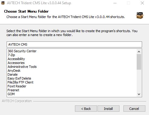 Create a start menu
