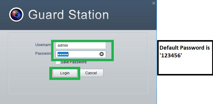 Login with default username & password
