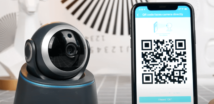 Scan QR code to connect camera