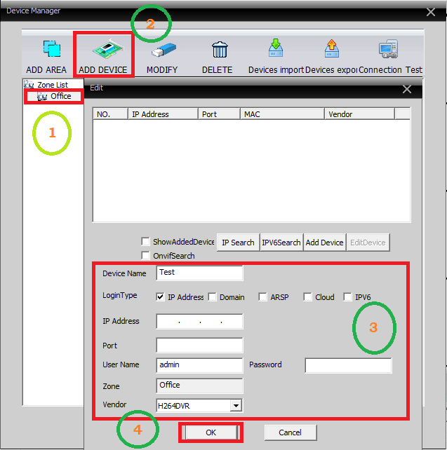 Add and link the devices to the software
