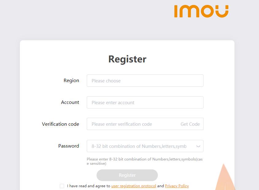 Create an account on the app