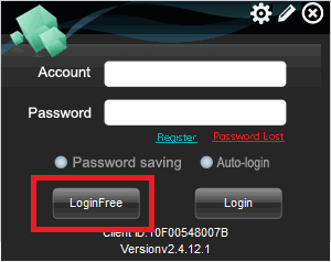 Login with default username and pass