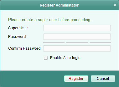 Create a user ID and password
