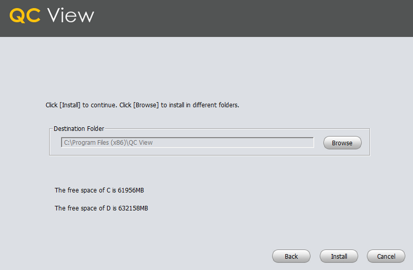 Assign the installation path