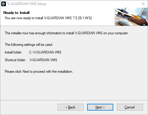 Ready to install the V-Guardian Application