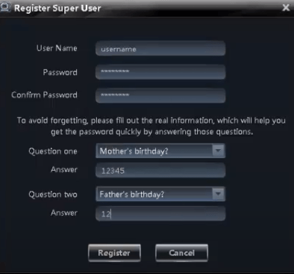 Registration for users